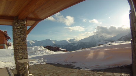 Location Alpe d'Huez : Vue de l'appartement