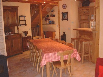 Location Areches-Beaufort : Séjour style campagnard