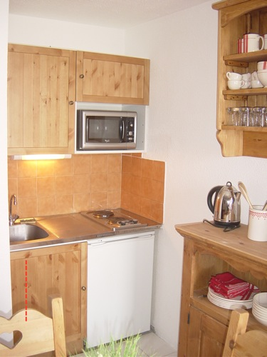 Location Les 2 Alpes : kitchenette
