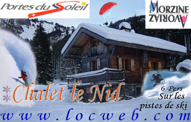 Location Morzine : Chalet individuel le Nid
